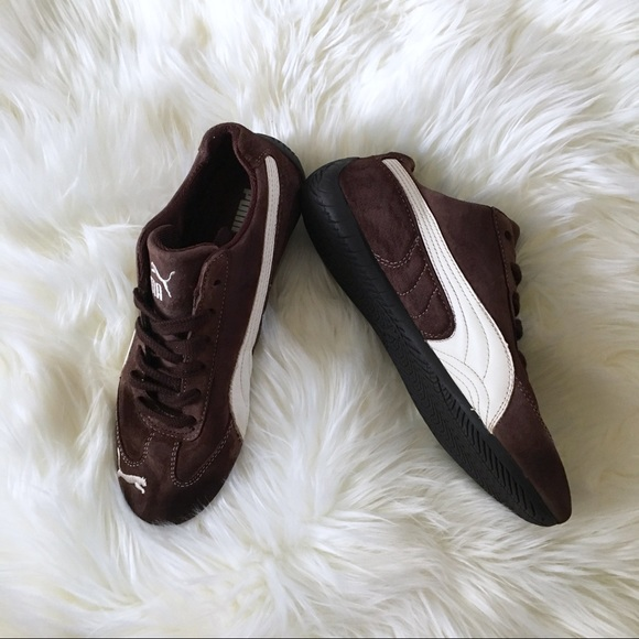 le dernier 70249 16f58 Brown and cream suede and leather puma sneakers